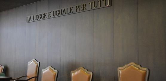 Giustizia: aula del Tribunale di Aosta