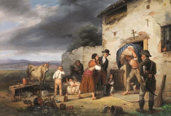 Carlo-Canella-Verona-1800-Milano-1879-LO-SFRATTO