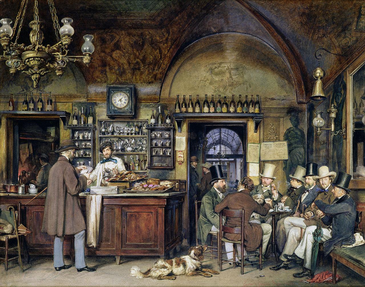 Ludwig_Passini, antico caffè greco a Roma