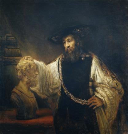 1653 Aristotele Contempla Il Busto Di Omero - Rembrandt