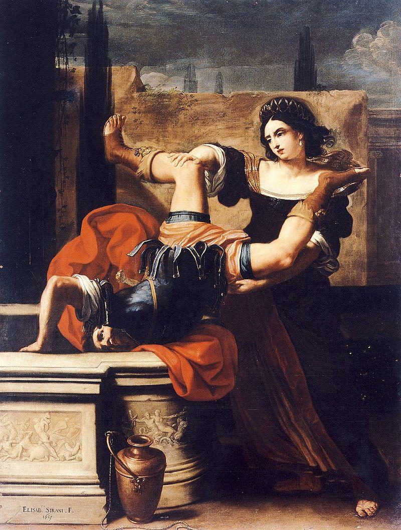 Timoclea uccide il capitano di Alessandro Magno - 1659