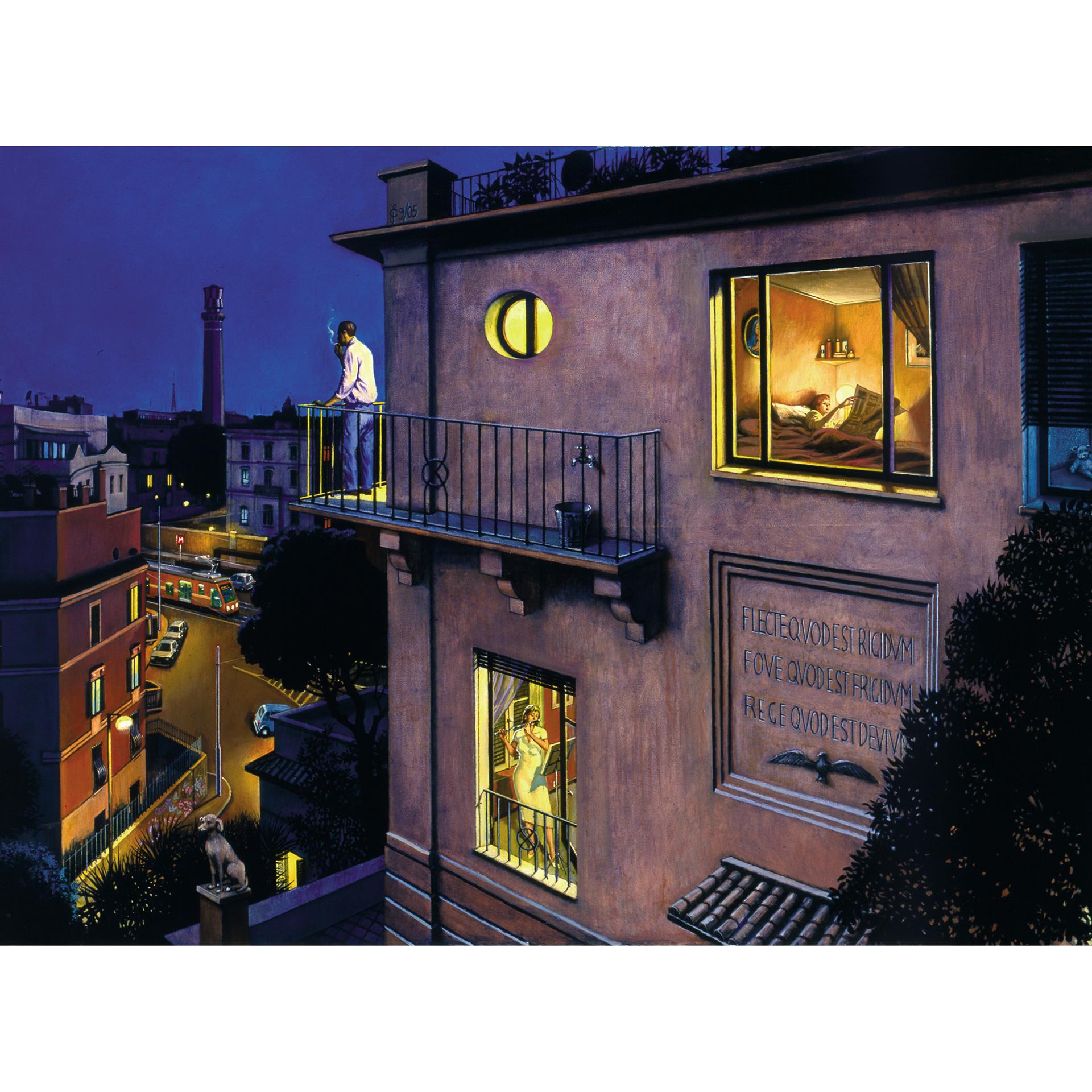 condominio di città notte