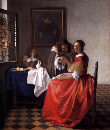 Vermeer Signora e due signori